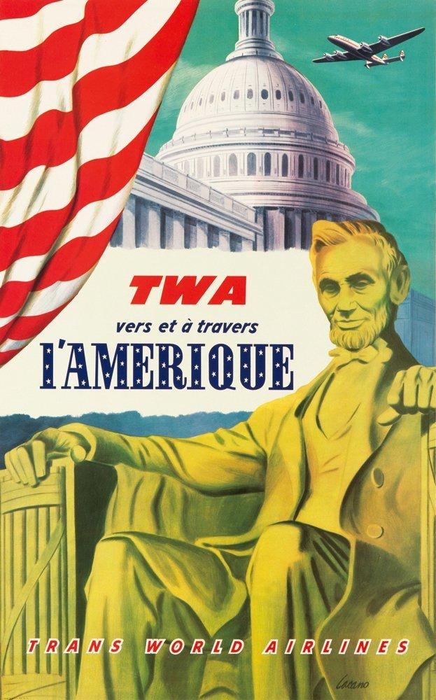 20: TWA / L'Amerique. ca. 1950