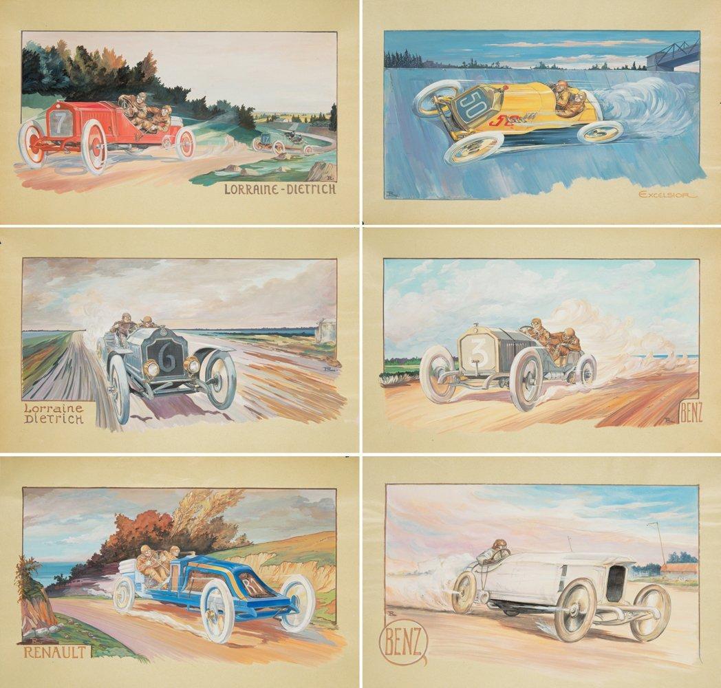 22: 12 Early Automobile Designs. ca. 1907