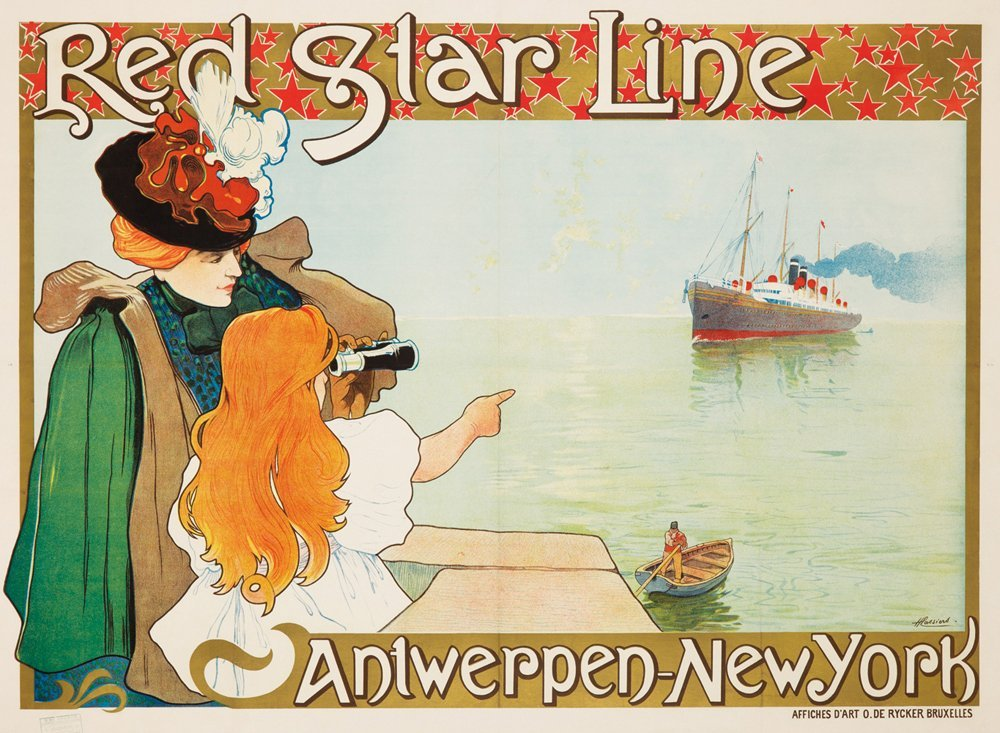 216: Red Star Line / Antwerpen-New York.  1899