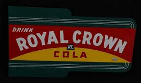 Drink Royal Crown Cola Metal Flange Sign