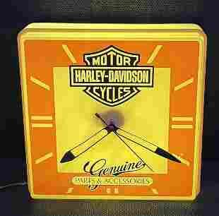 Harley Davidson Lighted Dealership Clock