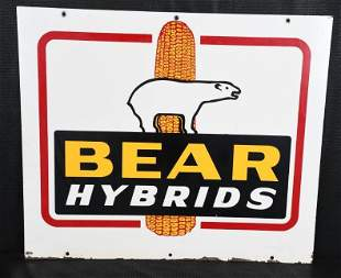 Bear Hybrids w/Logo Metal Sign