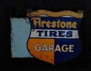 Rare Firestone Auto Supplies/Garage Metal Sign (TAC)