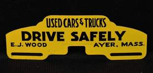 """Used Cars & Trucks """"Drive Safely"""" Metal License Plate"""