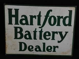 Hartford Battery Dealer Metal Flange Sign