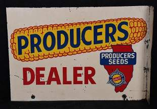 Producer Dealer w/State of Illinois Logo Metal Sign