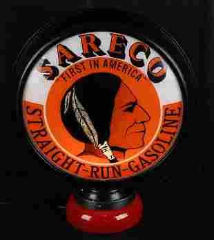 """Sareco """"Straight-Run-Gasoline"""" w/Logo Fantasy 15"""" Globe"""