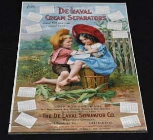1904 DeLaval Cream Separators Color Lithograph Calendar