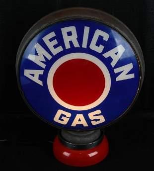 "American Gas w/Red Dot Logo 15""D. Globe Lenses"
