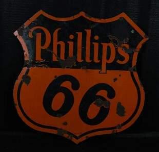 Phillips 66 (orange & black) Porcelain Sign