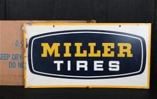 Miller Tires Metal Sign