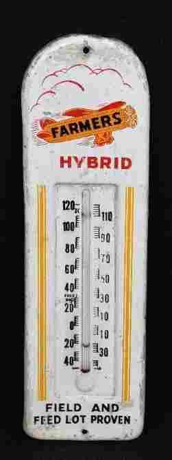 Farmers Hybrid w/Logo Metal Thermometer