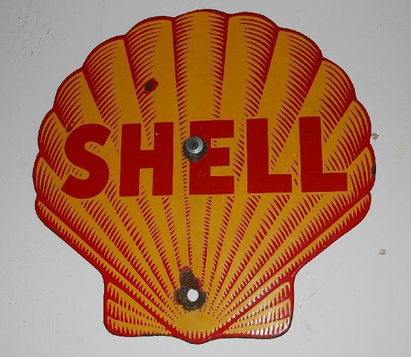 7: Shell  SSP sign,  12x12 inches,