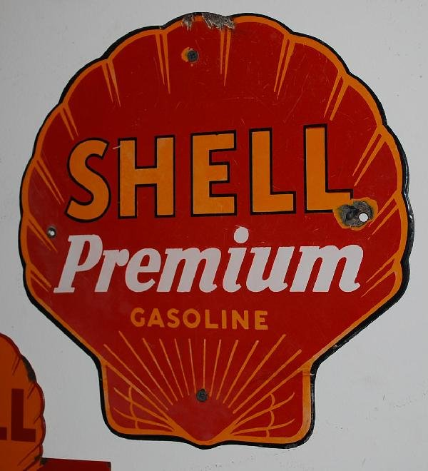 10: Shell Premium Gasoline PPP sign,  12x12 inches,