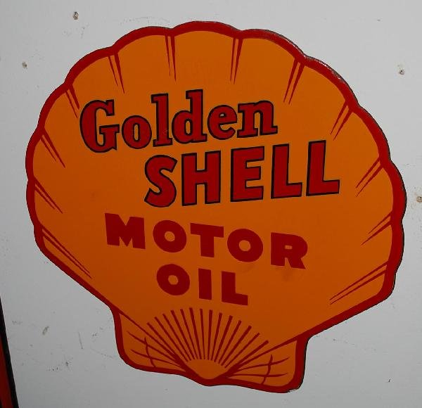 12: Golden Shell Motor Cycle Oil with logo,  SSP sign,