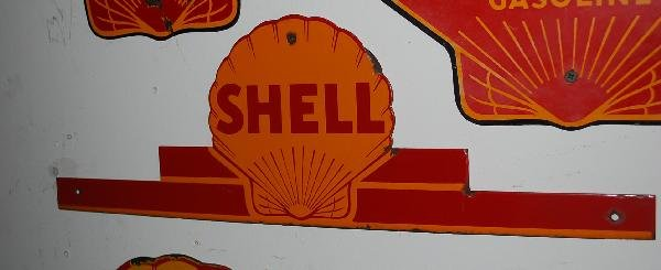 14: Shell SSP sign,  7x21 inches,