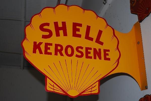16: Shell Kerosene tin flange sign,  ?,