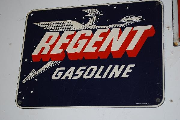 19: Regent Gasoline with logo,  SST sign,  9x12 inches,