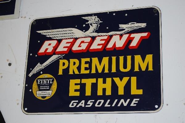 20: Regent Premium Ethyl Gasoline with logo,  SST sign,