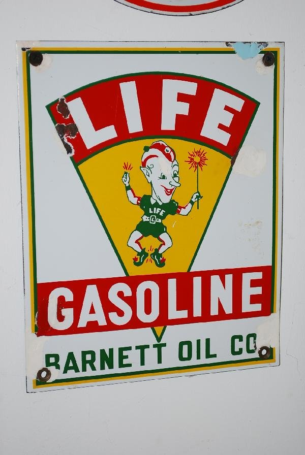 22: Life Gasoline with elf logo,  PPP sign,  10x8 inche
