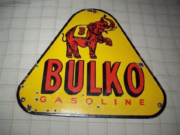 1A: Bulko Gasoline with Elephant (yellow background) PP