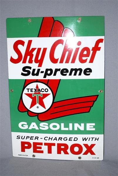 1: Texaco (white-T) Sky Chief with Petrox PPP sign, 18x