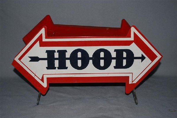 8: Hood Tire Display Stand, metal, 8x14 inches,
