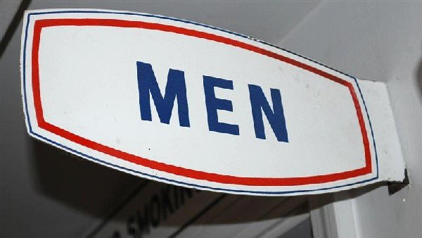 11: (Champlin) Men (restroom) porcelain flange sign, 5.