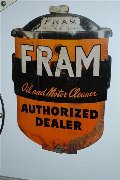16: Fram Authorized Dealer  SST diecut sign, 14x10 inch