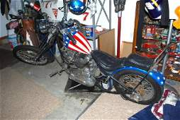65: Captain America Style Chopper motorcycle with 1971