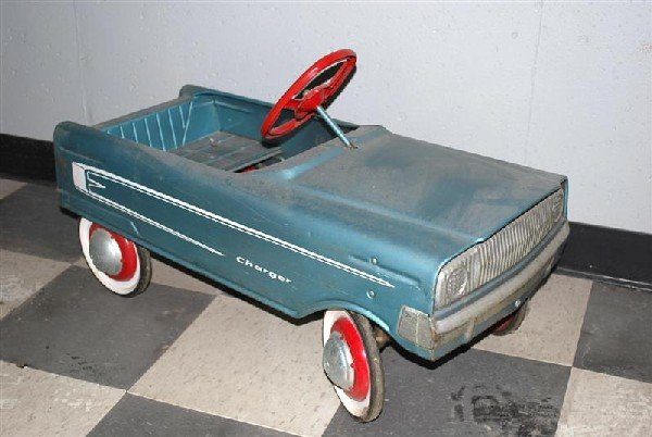 """109: Murray """"Charger"""" Pedal Car metal,"""