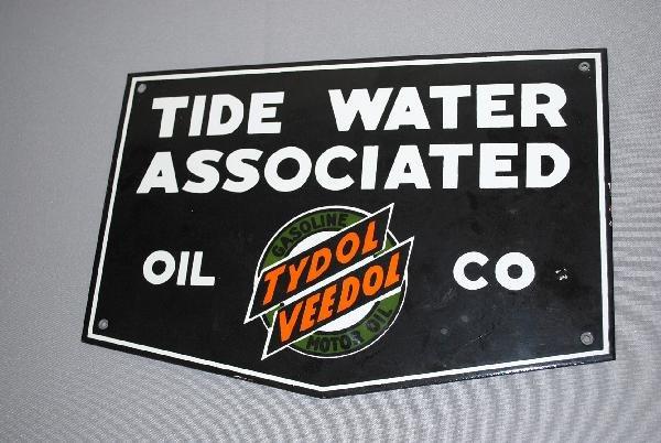 1: Tide Water Associated Oil Co with Tydol Veedol logo,
