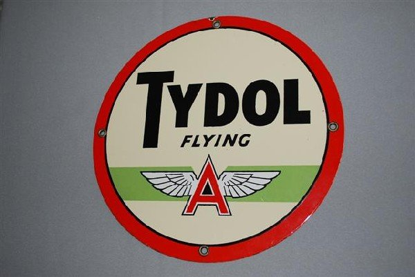 2: Tydol with Flying A logo over green stripe,  PPP sig