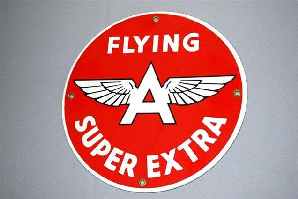 4: Flying A Super Extra with logo,  PPP sign,  10 inch,