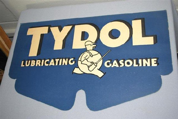 15: Tydol Lubricating Gasoline with Oilcan Man logo,  p