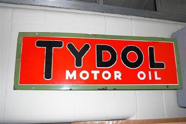 24: Tydol Motor Oil SSP sign,  14x42 inches,
