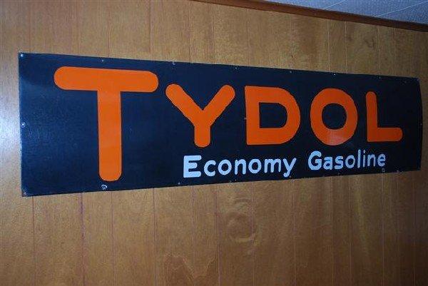 29: Tydol Economy Gasoline SSP sign,  18x72 inches,