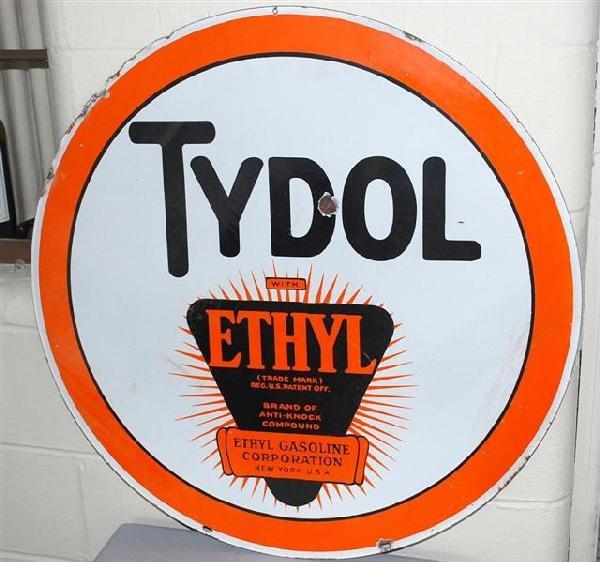 32: Tydol with ethyl logo,  DSP sign,  30 inch,
