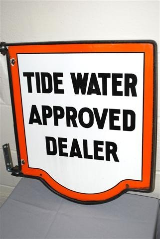 34: Tidewater Approved Dealer DSP diecut sign,  21x18 i