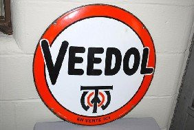 Veedol With Logo (foreign) SSP Convex Sign,  21 Inc