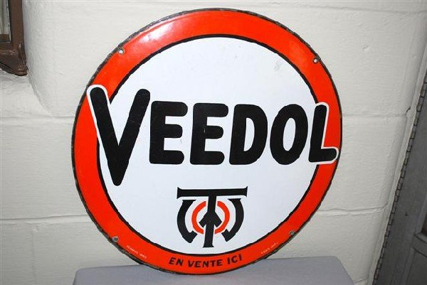 35: Veedol with logo (foreign) SSP convex sign,  21 inc