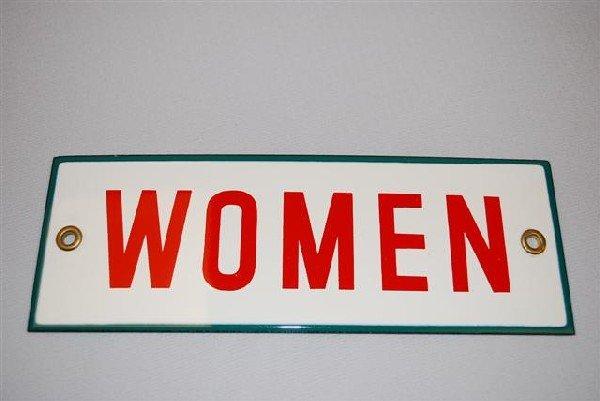 39: (Associated) Women (restroom) SSP sign,  2.5x7.75 i