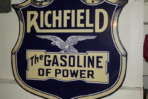 45: Richfield Gasoline with great detail logo,  DSP