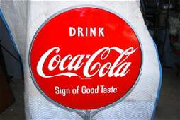 "49: Drink Coca-Cola ""Sign of Good Taste"" DSP curb sign,"