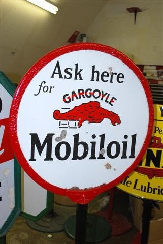 52: Ask here for Mobiloil with Gargoyle logo,  DSP curb