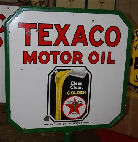 55: Texaco Clean, Clear Golden Motor Oil with logo,  DS