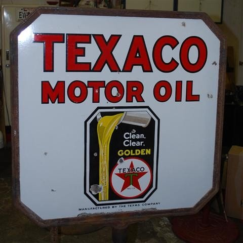 56: Texaco Clean, Clear Golden Motor Oil with logo,  DS