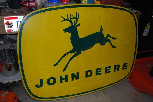 60: John Deere with four legged deer logo,  SST wooden
