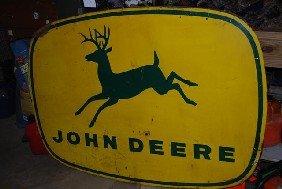 John Deere With Four Legged Deer Logo,  SST Wooden