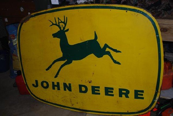 62: John Deere with four legged deer logo,  SST wooden